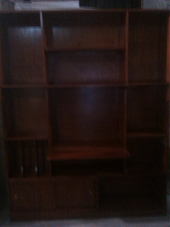 Librero Color Caoba Clasico 100% Madera