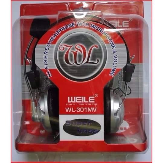 20 Unids Headphone Weile Com Microfone.