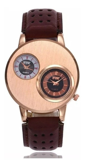 Relógio De Pulso Masculino Esportivo Vintage Couro Sintético