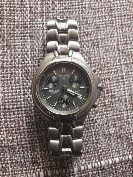 Relógio Tissot T675 Titanium Chronograph Inox Década De 90 Show De Bola!