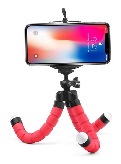 Mini Tripé Flexível Suporte P/ Celular Câmera Ação Aventura
