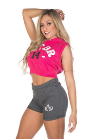 Moletom Slim Colete Blusa C/capuz Feminino Fitness Ftb Rosa