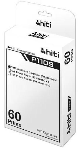 Papel Ribbon Impressora P110s Hiti 10x15 / Papel Hiti P110s
