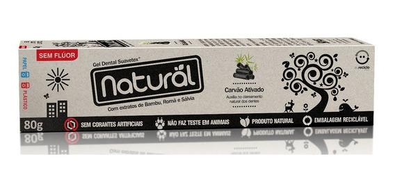 Creme Dental Natural Suavetex Com Carvão Ativado Promoção