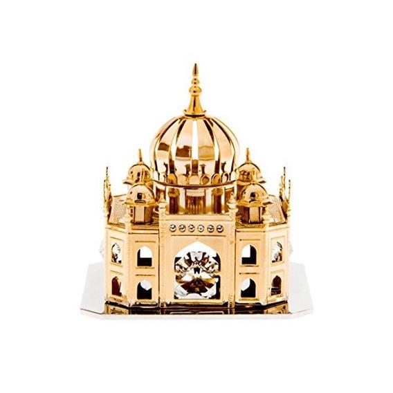 Mezquita 24k Chapado En Oro Con Cristales Swarovski Figurita