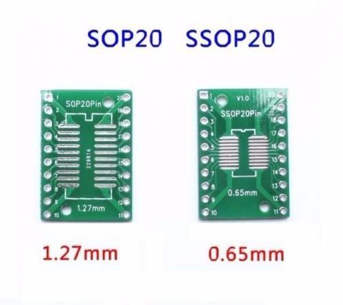 157ce9348b8c Adaptador Sop20 Ssop20 Tssop20 A Dip20 0.65/1.27mm