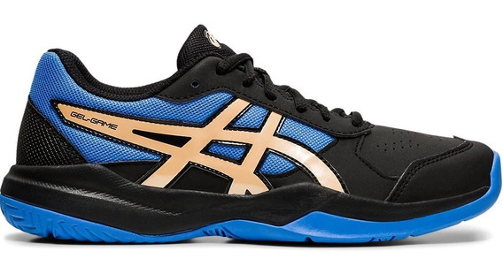 Zapatillas Asics Tenis Niño Gel Game 7 Gs Negro-azul Cli