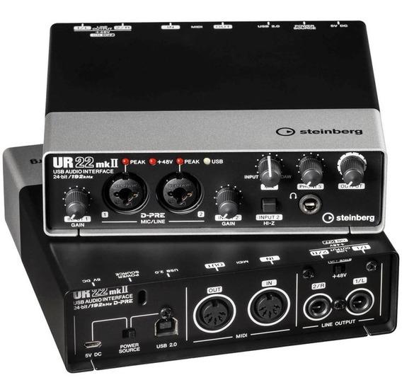 Interface De Áudio Steinberg Ur22 Mk2 Mkii Usb Audio/midi