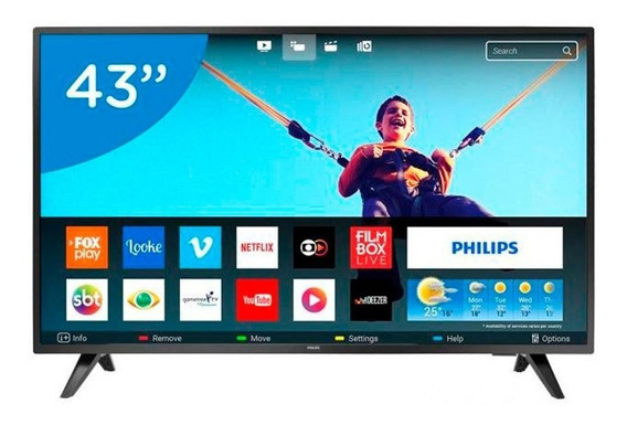 Smart Tv Led 43 Polegadas Philips 43pfg5813 Full Hd Netflix