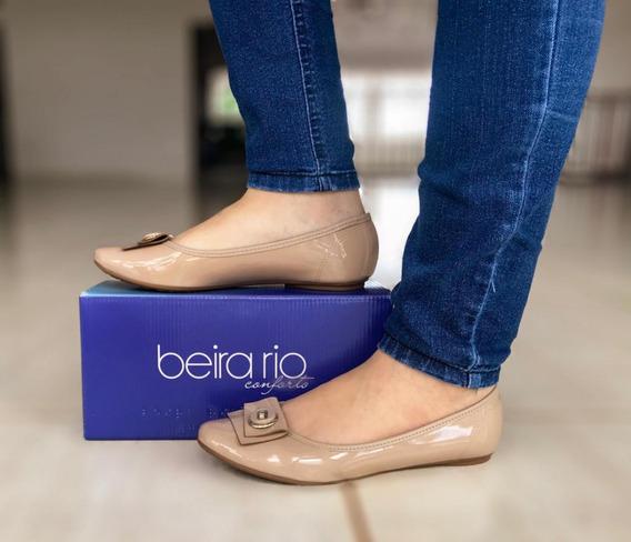 Sapatilha Feminina Beira Rio Em Verniz 4135 258 - Bege