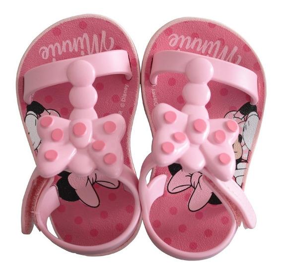 Sandália Infantil Baby Feminina Minnie Bow Fever