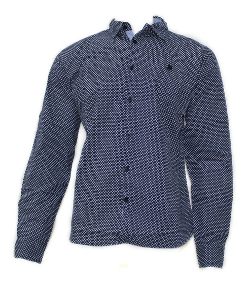 Camisa Social Masculina Mini Estampa Polo Wear P000053509