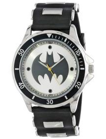 Batman Reloj Análogo Con Brazalete De Hule Negro