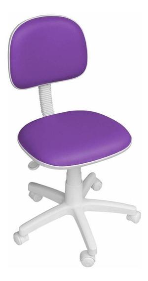 Cadeira Giratória Roxa Lilás Secretária Para Quarto Campinas
