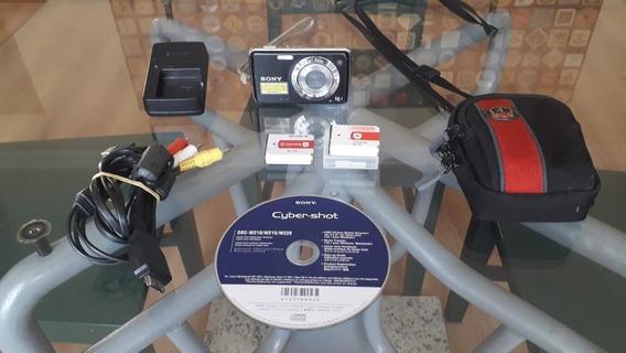 Câmera Sony Dsc-w210 Carregador, 2 Baterias, Cd, Case E Cabo
