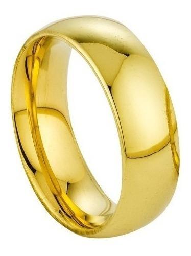 Linda Aliança 6mm Banhada A Ouro 18k