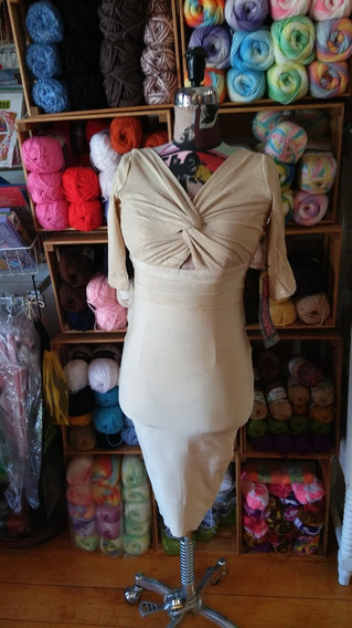 Vestido Wow Couture Worl Of Women Color Arena Talla: Mediana