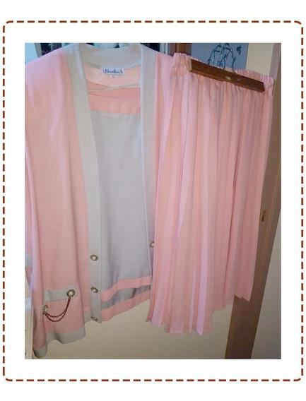 Conjunto En Crep (ropa Usada) Talle 50