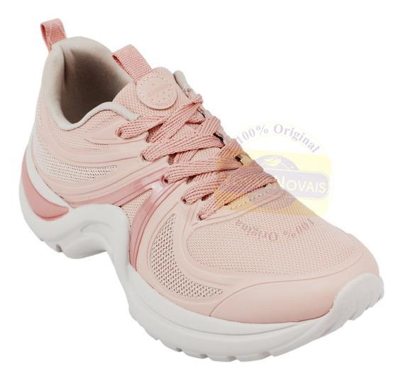 Tênis Azaleia Feminino Sneaker (100% Original) Rosa Com N F