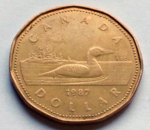 Moneda De Canadá, 1 Dollar 1987.