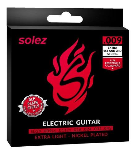Encordoamento Solez Para Guitarra Slg9 0.009/0.042