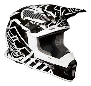 Casco Jt Racing Als 1.0 Negro/blanco Motocross No Fox