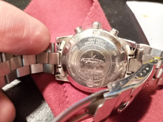 Reloj Swiss Military Modelo 0750463 Con Tres Cronometros