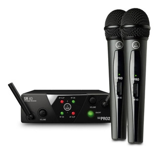 Set 2 Microfonos Inalambricos Uhf 50mts (envio Gratis) Akg