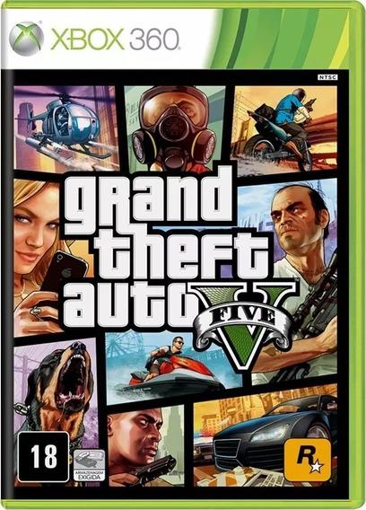 Grand Theft Auto V Gta V Xbox 360 Nacional Lacrado - Rj