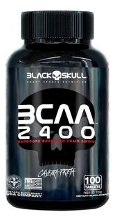 Bcaa 2400 100 Capsulas Black Skull Caveira Envio Imediato