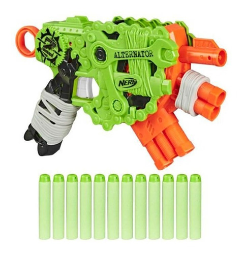 Imagen 1 de 7 de Nerf Zombie Pistola Alternator Lanzador De Dardos E6188 Full