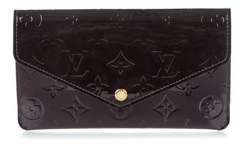 Louis Vuitton Amarante Vernis Leather Jeanne Wallet Original