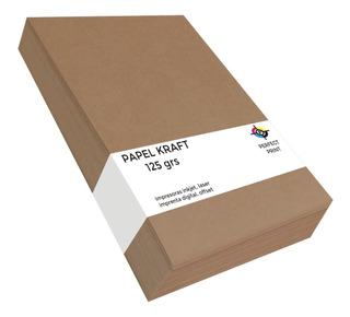 Papel Kraft A4 Misionero Madera 125 Grs Paquete 100 Hojas
