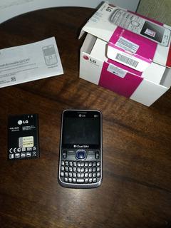 Lg C397 Usado, Cartão De Memória, Manual E Bateria.