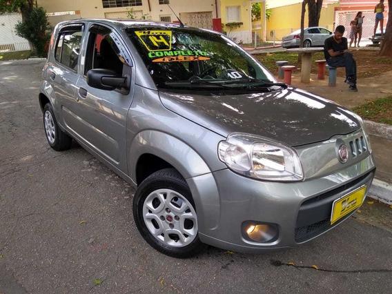 Fiat Uno Vivace 4p 1.0 Flex 2014 Cinza Completo Lindo!!