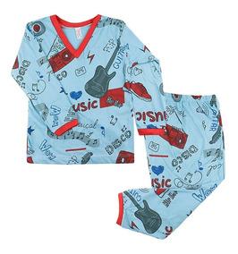 Kit 6 Pijamas Conjunto Infantil Menino Algodão Estampado