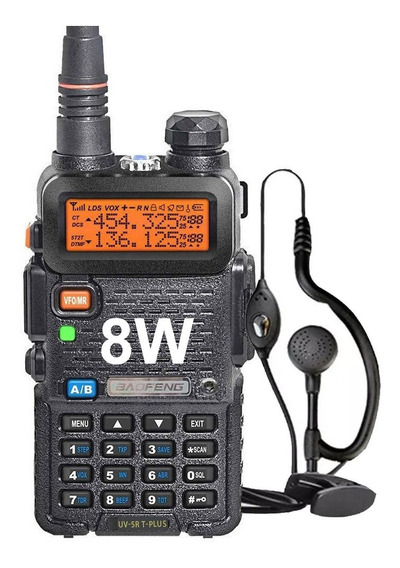Handy Baofeng Uv5r 8w Bibanda Radio Walkie Talkie Vhf Uhf Con Auricular Manos Libres