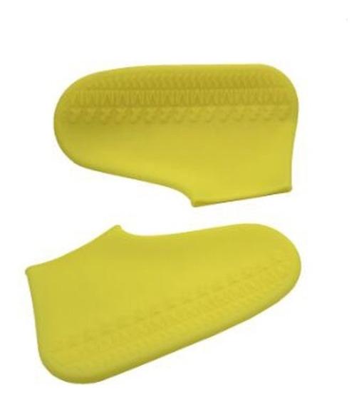 Protector Impermeable Reutilizable De Zapatos Para Lluvia, Lodo Y Arena Funda Gruesa De Silicona Y Suela Antiderrapante