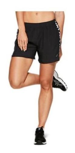 Imagen 1 de 4 de Short Asics 5.5in Mujer Running Negro A252 C008