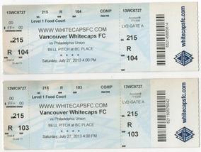 Ingressos Vancouver Whitecaps Vs Philadelphia Union 27/07/13