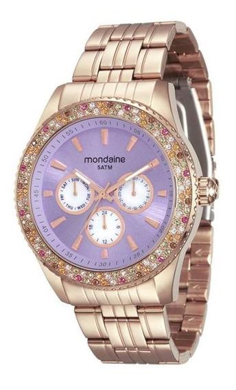 Relógio Mondaine Feminino Colorido Rosé 78731lpmvra3