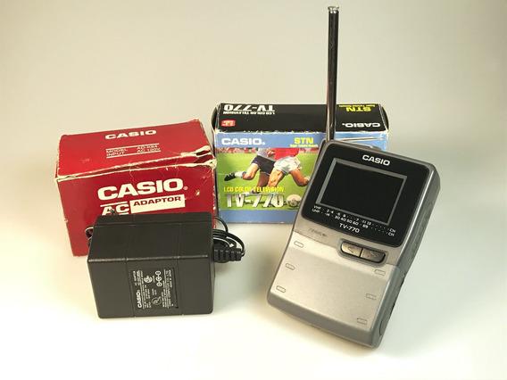 Mini Televisor Lcd Casio Tv-770 Com Fonte Original Funciona