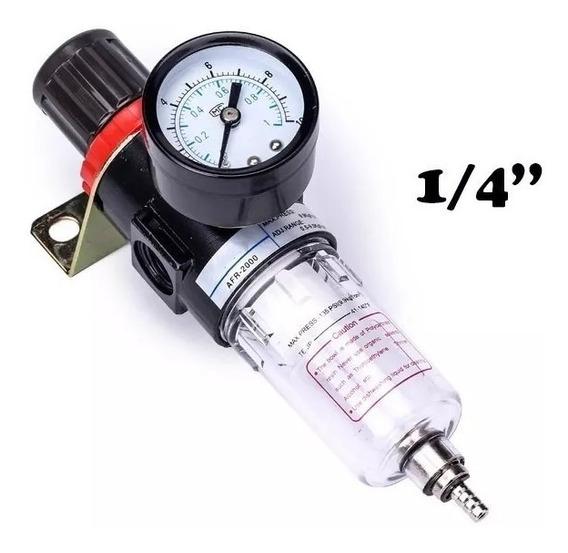Filtro De Ar Para Pintura 1/4 Regulador Pressão Compressor