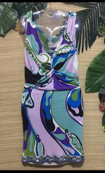 Vestido De Verão Emilio Pucci Usado - Número 38