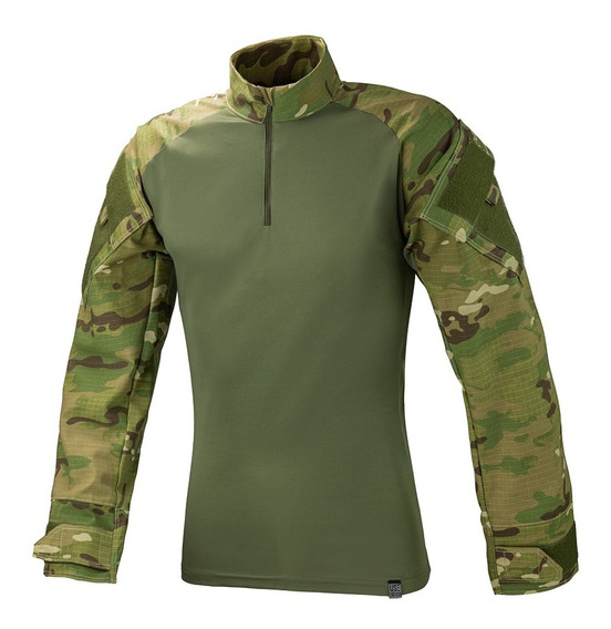 Camisa Combat Shirt Multicam Militar Reforçada Use Tático