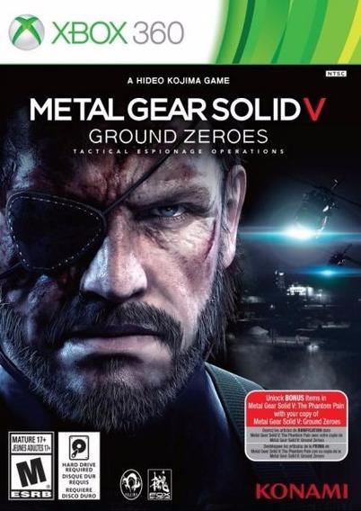 Jogo Metal Gear Solid V Ground Zeroes Xbox360 Ntsc Original