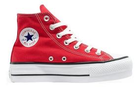 Tênis Converse Chuck Taylor All Star Hi Plataforma Vermelho