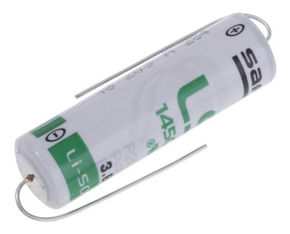 Bateria Saft Ls14500 Cnc 3,6v Aa Li-socl2 Terminais Axial