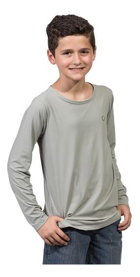 Camiseta De Proteção Uv Fpu50+ Infantil Masculina Poliamida