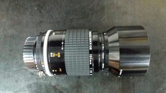 Objetiva Nikkor Ais Micro 105 F2.8 Estado De Novinha